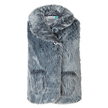 Buy John Lewis Girls' Party Faux Fur Gilet, Silver Online at johnlewis.com
