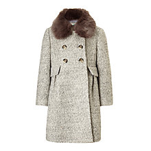 Buy John Lewis Girls' Formal Coat, Grey Online at johnlewis.com