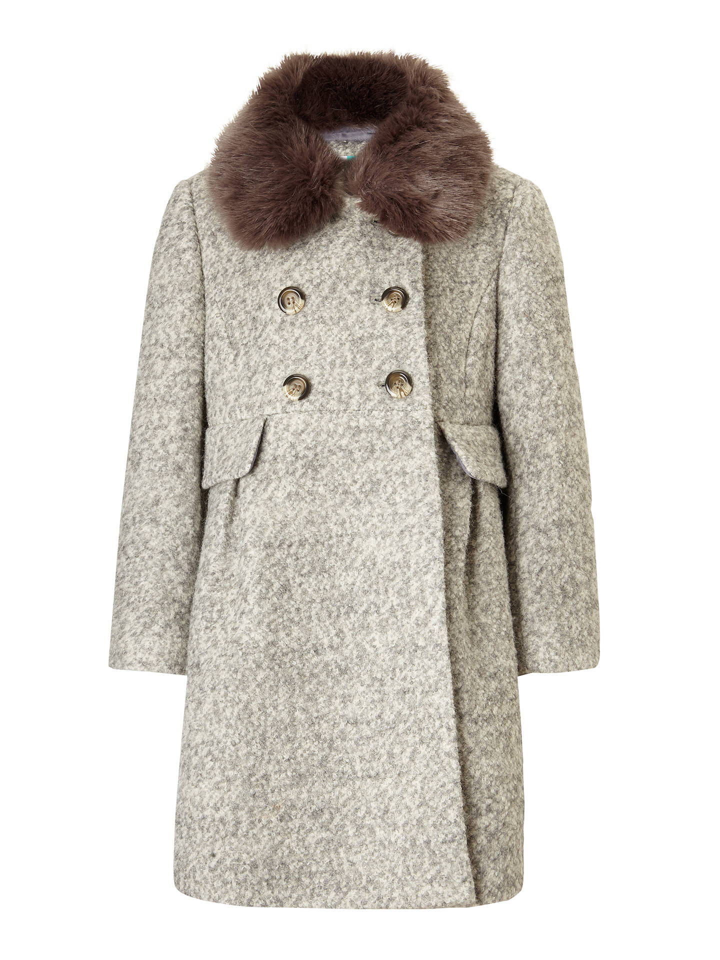 300b0746f86 Buy John Lewis Girls' Formal Coat, Grey, 3 years Online at johnlewis.