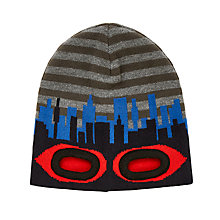 Buy John Lewis Children's Eyehole Beanie Hat, Grey/Blue/Red Online at johnlewis.com