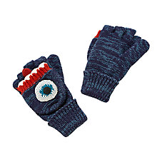 Buy John Lewis Children's Monster Reverse Loop Mittens, Blue Online at johnlewis.com