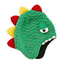 Buy John Lewis Children's Dinosaur Trapper Hat, Green Online at johnlewis.com