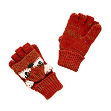Buy John Lewis Children's Fox Flip Gloves, Orange Online at johnlewis.com