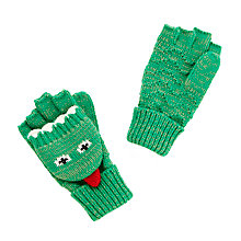 Buy John Lewis Children's Dinosaur Flip Gloves, Green Online at johnlewis.com