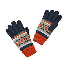 Buy John Lewis Children's Classic Fair Isle Knitted Gloves, Multi Online at johnlewis.com
