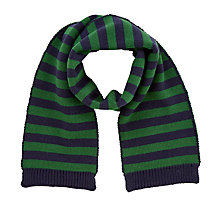 Buy John Lewis Children's Stripe Scarf, Navy/Green Online at johnlewis.com