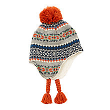 Buy John Lewis Children's Fair Isle Bobble Trapper Hat, Multi Online at johnlewis.com