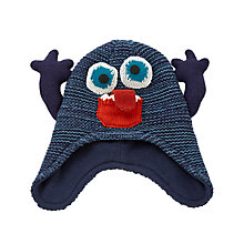 Buy John Lewis Children's Monster Trapper Hat, Blue Online at johnlewis.com