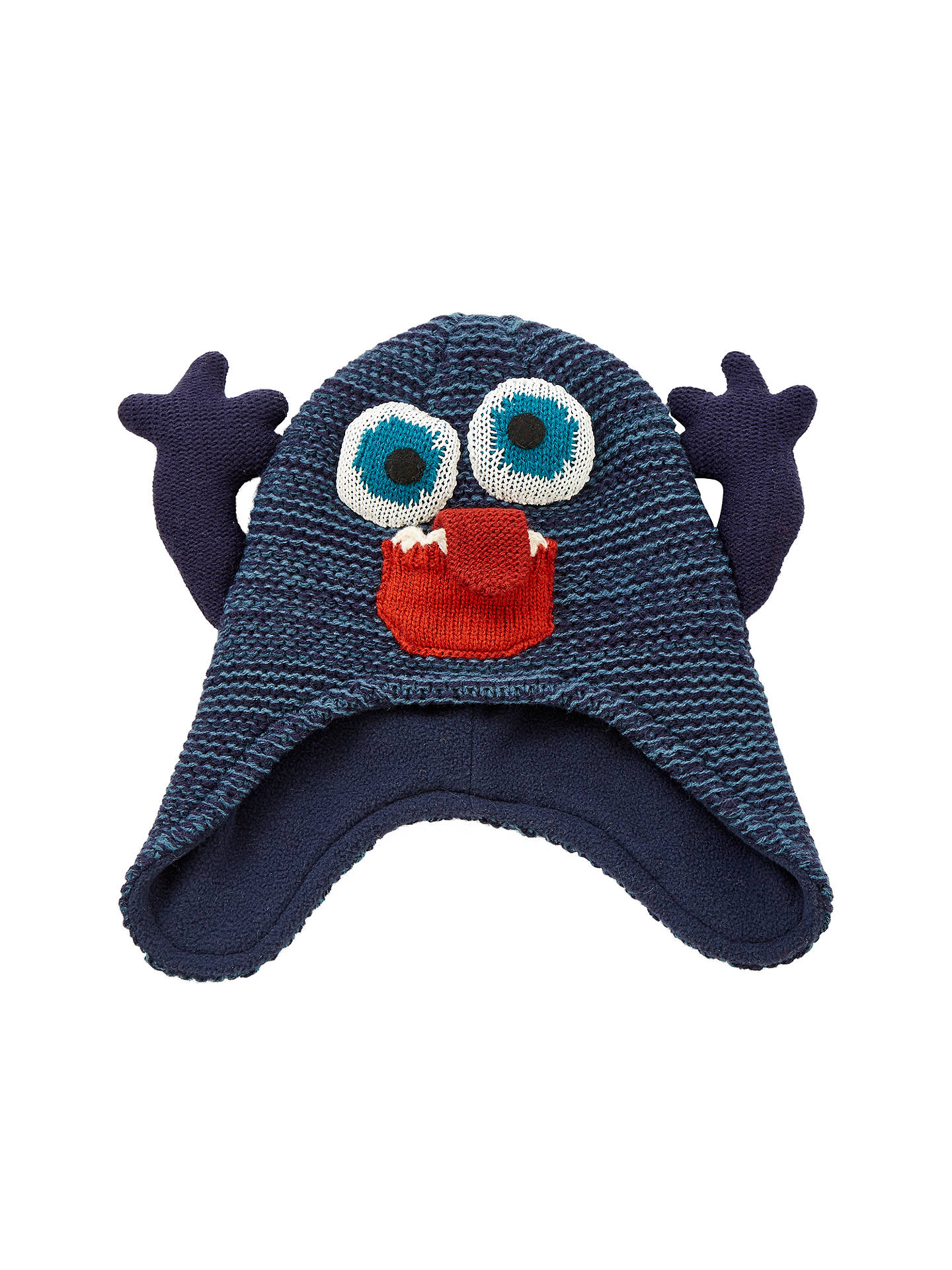 John Lewis Childrens Monster Trapper Hat Blue At John Lewis Partners