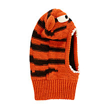 Buy John Lewis Children's Tiger Balaclava, Orange Online at johnlewis.com