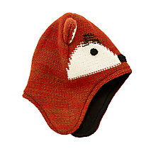 Buy John Lewis Children's Fox Trapper Hat, Orange Online at johnlewis.com