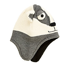 Buy John Lewis Children's Badger Trapper Hat, Grey Online at johnlewis.com