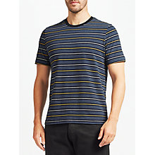 Buy John Lewis Stripe Cotton T-Shirt, Navy Online at johnlewis.com