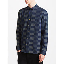 Buy Kin by John Lewis Checkerboard Shirt, Navy Online at johnlewis.com