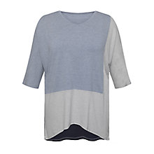 Buy Celuu Karlie Colour Block Top, Denim Online at johnlewis.com