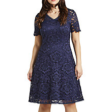 Buy Celuu Natasha Floral Lace Dress, Navy Online at johnlewis.com