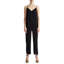Buy French Connection Copley Crepe Jumpsuit, Black Online at johnlewis.com