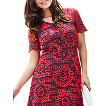 Buy Celuu Natasha Two-Tone Lace Dress, Red/Navy Online at johnlewis.com