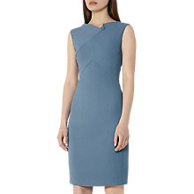 Buy Reiss Aiken Fitted Slash Neck Dress, Marine Online at johnlewis.com
