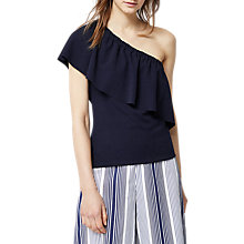 Buy Warehouse One Shoulder Frill Top Online at johnlewis.com