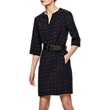 Buy Gerard Darel Silk Robe Dress, Navy Online at johnlewis.com