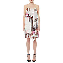 Buy French Connection Cornell Sheer Printed Dress, Neon Nectar/Multi Online at johnlewis.com