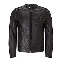 Buy Belstaff V Racer Nappa Leather Jacket, Black Online at johnlewis.com