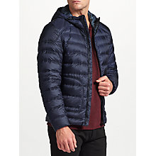 Buy Belstaff Fullarton Hooded Down Jacket, Dark Ink Online at johnlewis.com