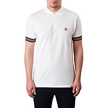 Buy Pretty Green Contrast Tipped Cotton Pique Polo Shirt, White Online at johnlewis.com