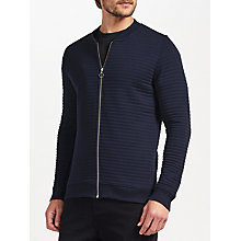 Buy Samsoe & Samsoe Bedford Zip Bomber, Dark Sapphire Online at johnlewis.com