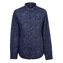 Buy Pretty Green Lescott  Paisley Long Sleeve Shirt, Navy Online at johnlewis.com