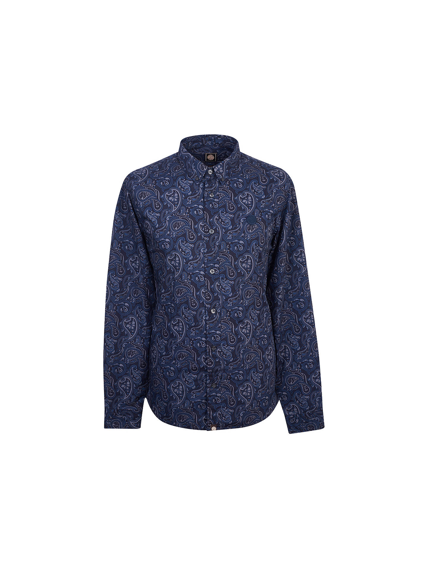 3be55af82f3187 Buy Pretty Green Lescott Paisley Long Sleeve Shirt