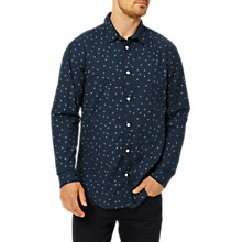 Buy Selected Homme Josh Print Long Sleeve Shirt, Dark Sapphire Online at johnlewis.com