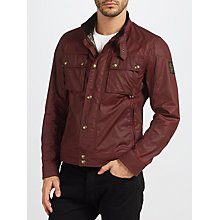 Buy Belstaff Racemaster Short Blouson Jacket, Cardinal Red Online at johnlewis.com