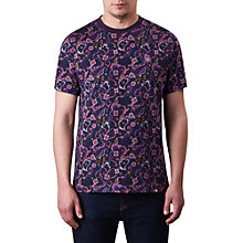 Buy Pretty Green Beaufort Patterned T-Shirt, Purple Online at johnlewis.com