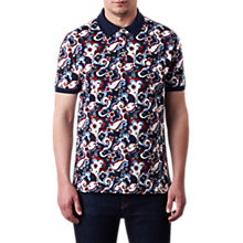 Buy Pretty Green Beaufort Floral Print Body Polo Shirt, Blue Floral Online at johnlewis.com