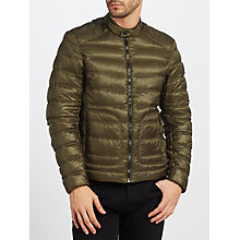 Buy Belstaff Halewood Quilted Jacket, Moss Green Online at johnlewis.com