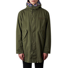Buy Pretty Green Cassidy Parka Jacket, Khaki Online at johnlewis.com