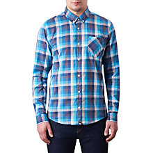 Buy Pretty Green Kensington Long Sleeve Check Shirt, Navy Online at johnlewis.com