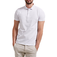 Buy Selected Homme Snap Button Polo Shirt, White Online at johnlewis.com