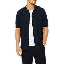 Buy Selected Homme Ras Full Button Polo Short Sleeve Shirt, Dark Sapphire Online at johnlewis.com