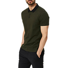 Buy Selected Homme Dante Contrast Polo Shirt, Green Online at johnlewis.com