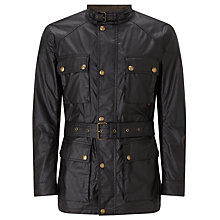 Buy Belstaff Roadmaster 4 Pocket Wax Jacket, Black Online at johnlewis.com