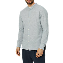 Buy Selected Homme Pet Slub Cotton Linen Shirt, Dark Sapphire/Egret Online at johnlewis.com