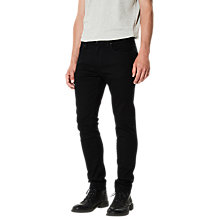 Buy Selected Homme Leon Slim Jeans, Black Online at johnlewis.com