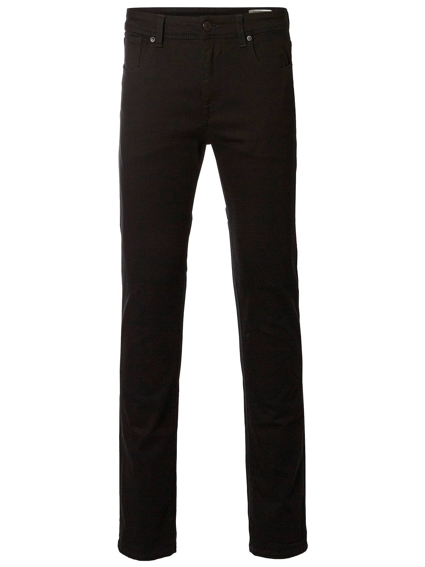 BuySelected Homme Leon Slim Jeans, Black, 30R Online at johnlewis.com