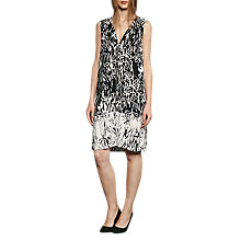 Buy French Connection Copley Crepe V-Neck Tunic Dress, Black/Summer White Online at johnlewis.com