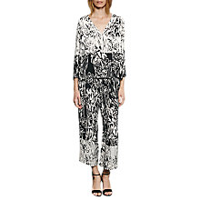 Buy French Connection Copley Printed Crepe Blouse, Summer White/Black Online at johnlewis.com