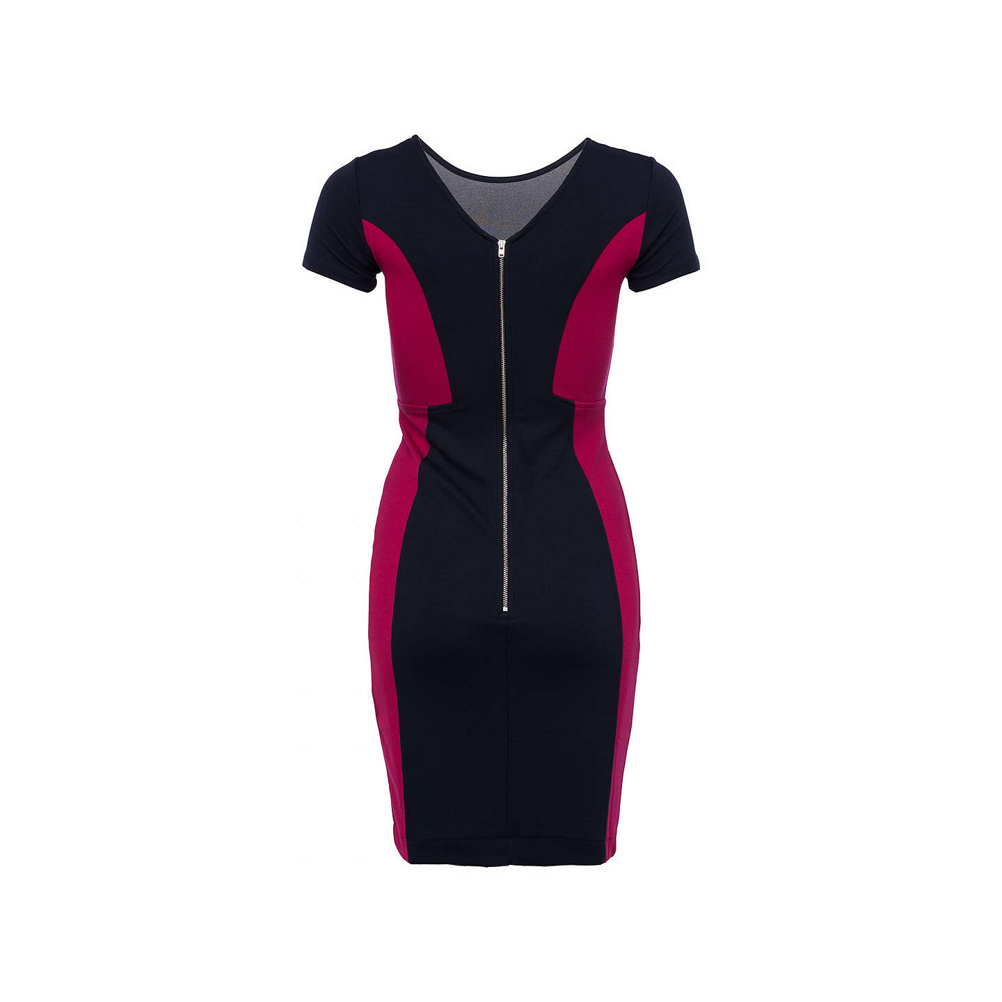 BuyFrench Connection Manhattan Colourblock Dress, Utility Blue/Summer Rouge, 12 Online at johnlewis.com