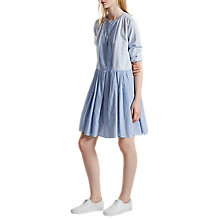 Buy French Connection Nuru Schiffley Striped Dress, Salt Water/Summer White Online at johnlewis.com